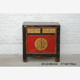Chinese cabinet made of solid wood with conventional colouring