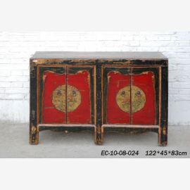 Chinese robust sideboard in traditional colour concept.