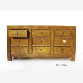 Natural wood sideboard from China in warm wood look