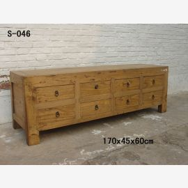 Solid sideboard from China with metallic buckles and clear structure