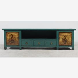 Chinese sideboard made of natural wood with traditional painting