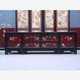 Chinese cabinet made of natural wood with traditional painting