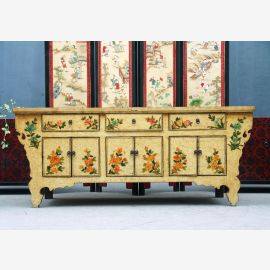 Chinese solid wooden sideboard with fine woodturning work