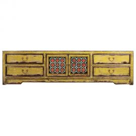 Chinese lowboard made of robust wood with elaborate details