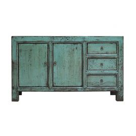Chinese hardwood cabinet in used look with drawers