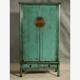 Hardwood cabinet from Asia in green with an elegant look