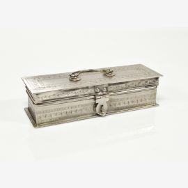 India Chest silver jewelry desk case