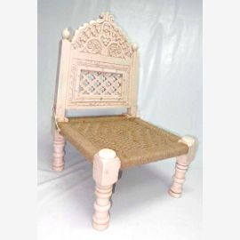 Bajot Stool Chair India Carved