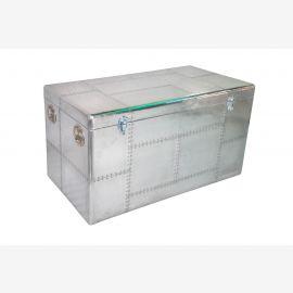 Ausgefallene Katzentoilette recyceltes Aluminium mit Verschlußklappe ein echter Hingucker