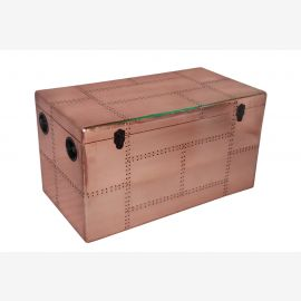Furniture polished copper chest Cochtisch aircraft recycling