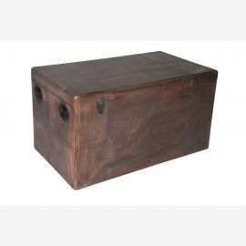 Furniture vintage copper chest Cochtisch aircraft recycling