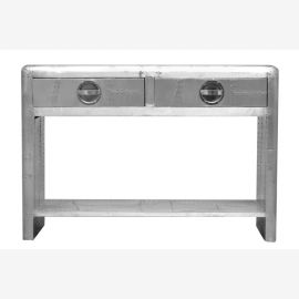 Console sideboard aircraft airplane aluminum furniture recycling