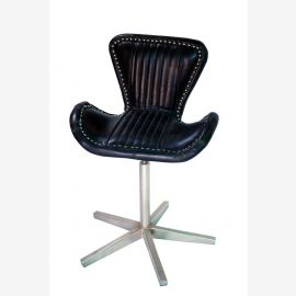 NEW aircraft aluminum furniture leather revolving chair swivel chair