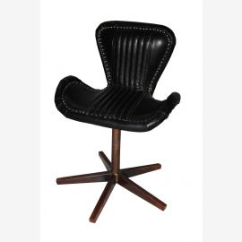 NEW Aircraft furniture copper leather revolving chair swivel chair
