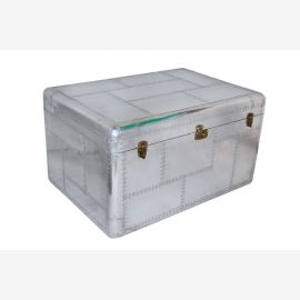 Furniture polished aluminum chest Cochtisch aircraft recycling