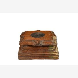 Wooden base Candlestick antique India Luxury Square Park