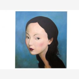 China Women Portrait size as original oil on canvas by a known master