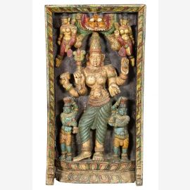 South India in 1910 a massive carved mural panel dancing goddess
