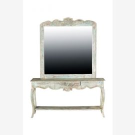 Combination mirror and table