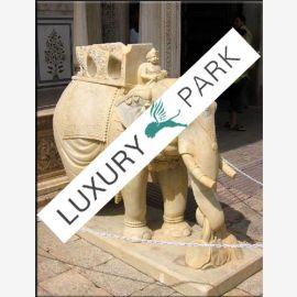 India large elephant sculpture sculpture white marble base