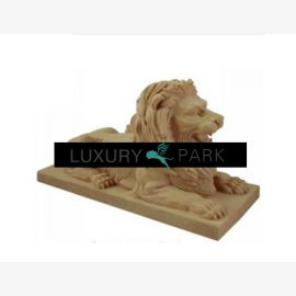 Thailand magnificent pair of lions sculptures on pedestals colorful marble