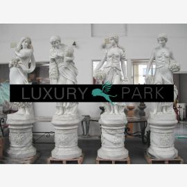 Four Seasons antique women sculptures white marble Classic
