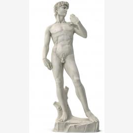 Michelangelo David sculpture of snow-white marble Renaissance