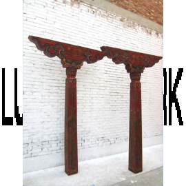 Tibet Columns Pair of Antique 80 years old