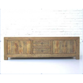 """China Lowboard wide credenza for flat panel Tv 80ys drawers and double doors bright pine country style by """"Luxury-Park"""""""