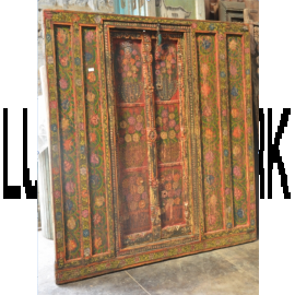 Indian antique door with ornaments 100ys