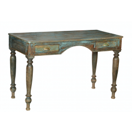 Desk India antique vintage green