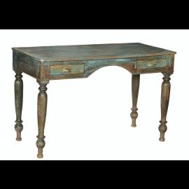 Desk India antique vintage green