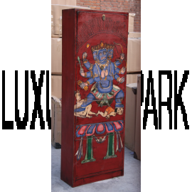 """China High Shoe cabinet painted black shabby chic look 4 large compartments by the bestsellers by """"Luxury-Park"""""""