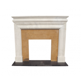 Marble fireplace, fireplace mantel made to measure solid marble K132