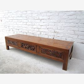 China dresser lowboard very flat screen TV for carving pine D SD.D.7