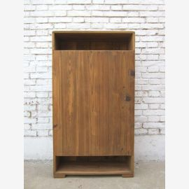 China -high open drawers ideal as bright modern look pine corner