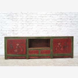 China, Mongolia lowboard very long sideboard in classic painting 100j .
