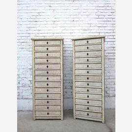 China high drawer dresser cabinet thirteen drawers white pine