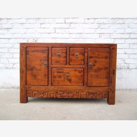 China Shandong massive 1880 small elegant chest of drawers elm
