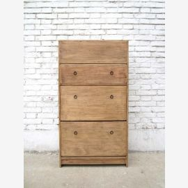 China shoe cabinet dresser 3 drawers and wide lateral drawers solid pine