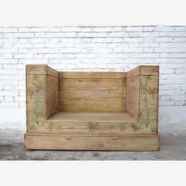 China Beijing natural color light elm 1860 classic bench chair