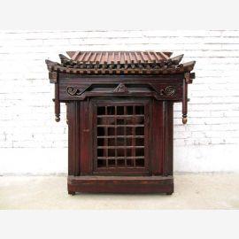 China Shanxi ca 1860 large house altar dark elm magical rarity