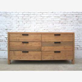 China is very wide chest of drawers 6 drawers modern form bright pine