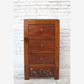 China Shanxi 1860 classic small chest of drawers bedside cabinet elm