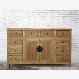 China Jilin nature around 1910 wide chest of drawers dresser with many drawers pine