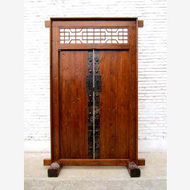 China's Shanxi in 1810 broad -leaf elm gate entrance door with frame