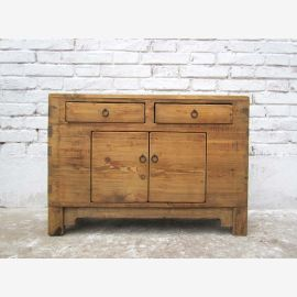 Chinese natural Mongolia around 1890 small chest of drawers dresser elm