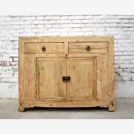 1860 China's Shanxi drawers dresser credenza unusual look bright elm