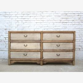 China wide chest of drawers 6 drawers pine cabinet fronts bright white