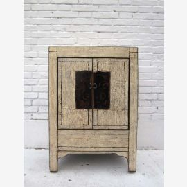 China 1910 Shabby chic small chests of drawers bedside cabinet double door elm solid metal fitting of Luxury Park